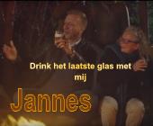 Kom drink het laatste glas met Jannes en laat hem proosten