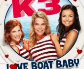 K3 stapt aan boord van Love boat baby met volle bemanning