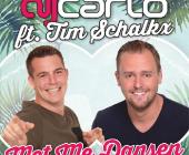 Met Me Dansen is een tropische, uptempo verassing van DJ Carlo ft Tim Schalkx