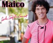 Maico Lacht, leeft en geniet en zet volgende stap op de muzikale ladder.